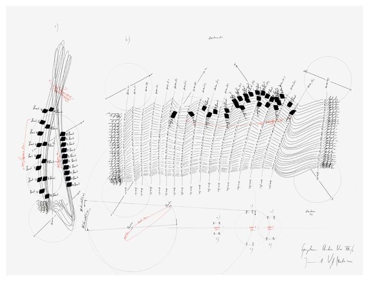Jorinde Voigt, Symphonie Studie Var. XIII -7, 2009, Offset-Print, 46 x 61 cm,