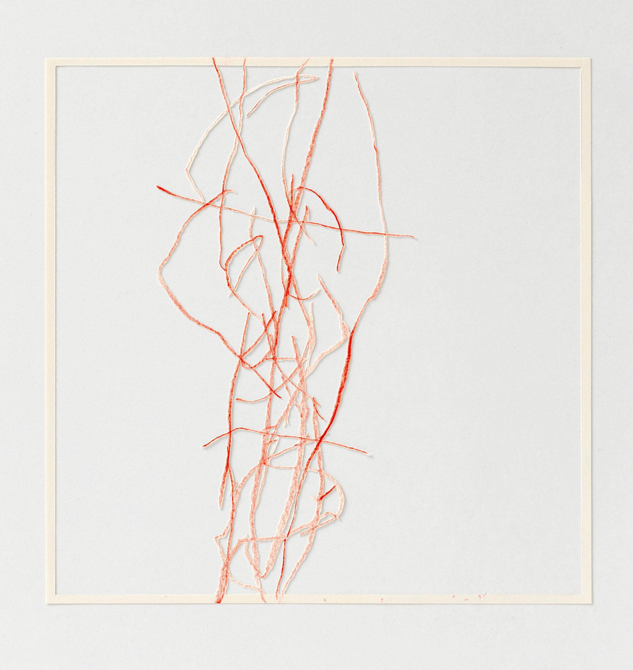 Katharina Hinsberg, Divis 2013-021, 2013, Farbstift auf Papier, ausgeschnitten, 25,5 x 25,5 cm, gerahmt 2