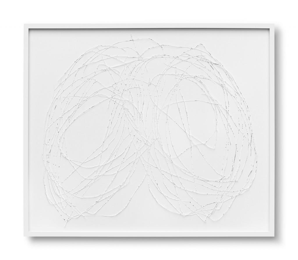 Katharina Hinsberg, Netz (N_2016_019), 2016, Graphit auf Papier, ausgeschnitten, 89 x 96 cm