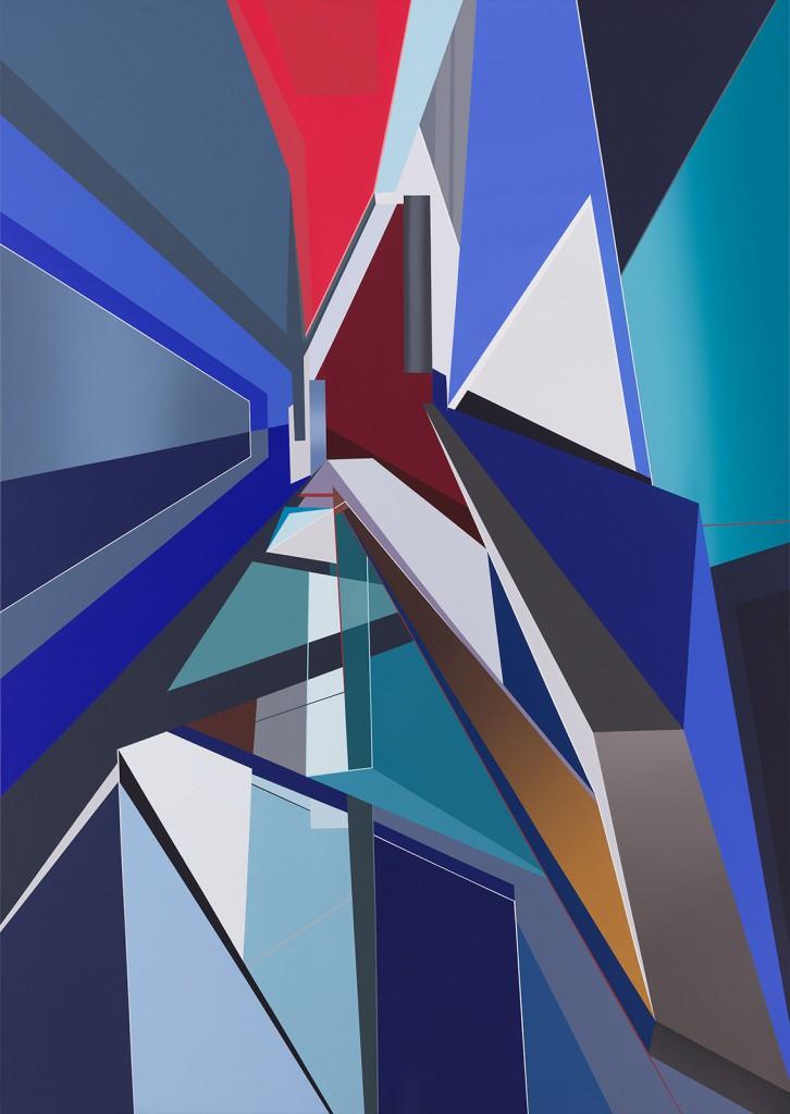 Tanja Rochelmeyer O.T. 0415, 2015, 170 x 120cm, Acryl auf Leinwand