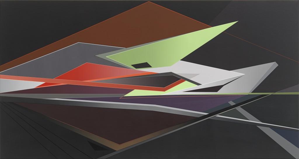 Tanja Rochelmeyer, Ohne Titel, WVZ 1513, Acryl auf Leinwand, 85x160cm 300dpi