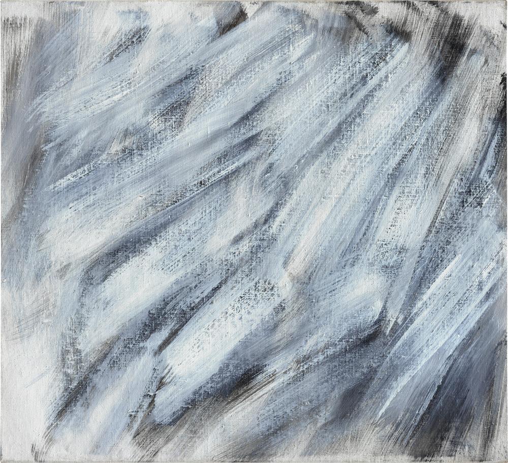 Raimund Girke, Rhythmisch bewegt, 1988, Leinwand, 79 x 86 cm
