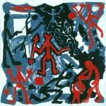 1984 Siebdruck 3 Farben  88 x 88 cm Auflage 55   Zurück zur Übersicht