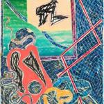 1982 Lithographie und Siebdruck auf 320 g Arches Karton    Lithograph and screen print 320 gram Arches paper Edition: 38 115,6 x 101 cm / 45,5 x 39,75 in   signiert, datiert und nummeriert signed, dated, and numbered Verleger publisher:  Petersburg Press, New York   Zurück zur Übersicht